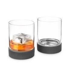 Final Touch Hockey Puck Lowball Glass, Set of 2