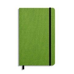 Shinola Medium Soft Linen Journal - Artichoke, Lined