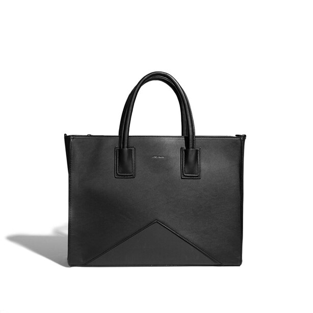 PIXIE MOOD GRETA WORK TOTE - BLACK/NUBUCK