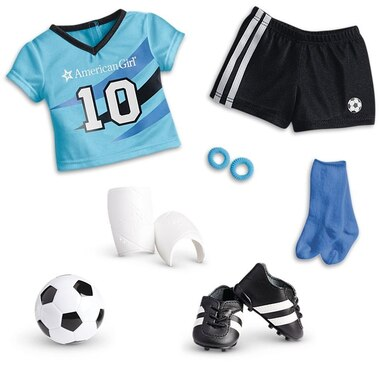 American Girl® Truly Me™ Doll Clothing Accessory All-Star Soccer Outfit 18'' Dolls