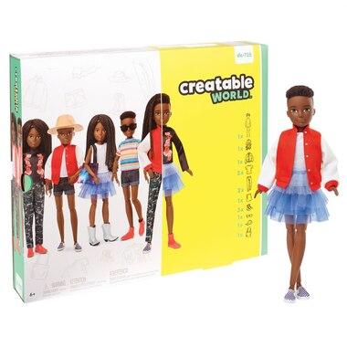 Creatable World Deluxe Character Kit 3 BLACK HAIR AA