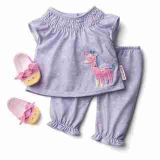 American Girl® Bitty Baby™ Pajama Set Cuddy Giraffe