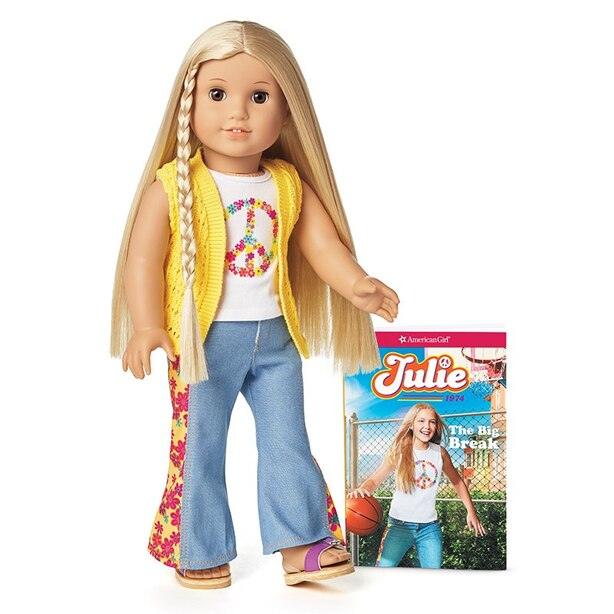 American Girl Julie Doll and Book