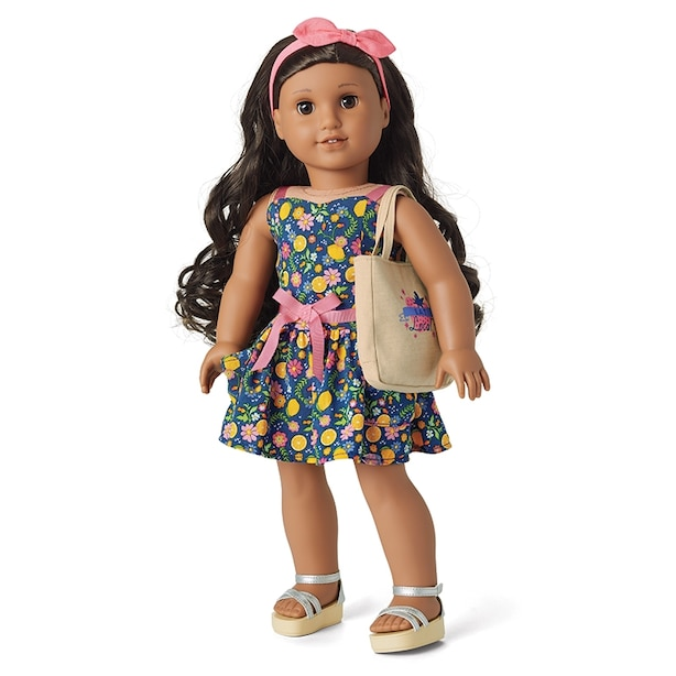 AMERICAN GIRL TRULY ME FRESH LEMONS MARKET OUTFIT
