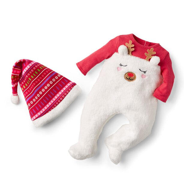 Reindeer Pajamas for Bitty Baby