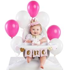 Baby Aspen Gold Glitter 1st Birthday Décor Kit