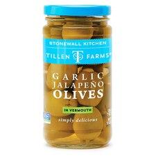 Olives farcies ail et jalapeno au vermouth