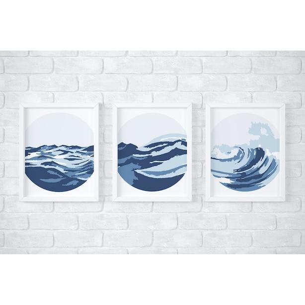 Ocean Waves Paint By Number Kit 3-Pack