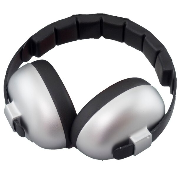 BANZ Earmuffs Infant Hearing Protection – Ages 0-2 Years  - Silver