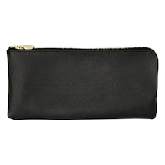 Leather Pencil Case - Jet Black