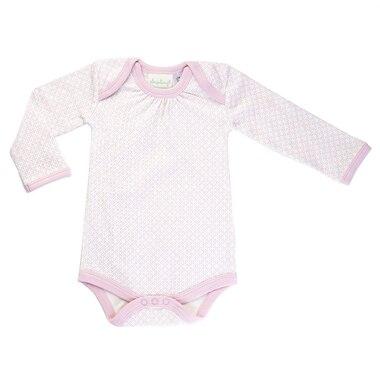 Dusty Pink Long Sleeve Bodysuit 0-3m by Sapling Organic  c474d0b37