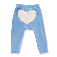 Little Boy Blue Heart Pants 0-3m