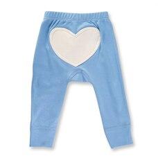 Little Boy Blue Heart Pants 6-12m