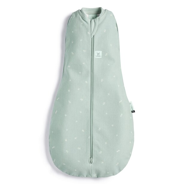 ergoPouch Organic Cotton & Bamboo Swaddle Sleep Sack 1.0 TOG - Sage Baby Size 0-3 months