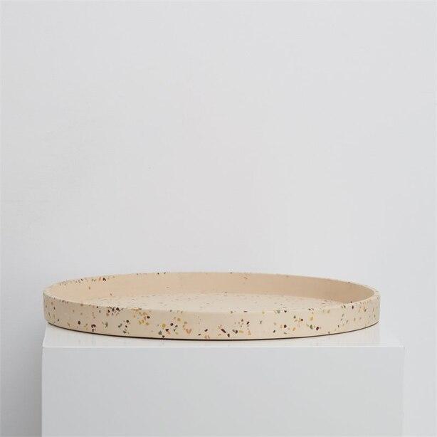 Capra Designs Large Terrazzo Tray Salt
