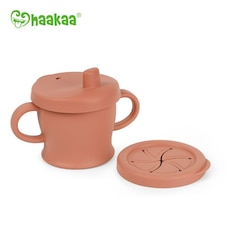 Silicone Sip N Snack Cup, Rust