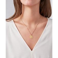 Modernist Monogram Necklace A, Gold