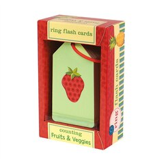 COUNTING FRUIT & VEGGIE RING FLASH CARDS