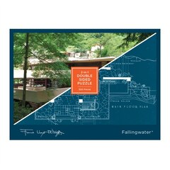 FLW FALLING WATER DOUBLE SIDED 500 PC PUZZLE