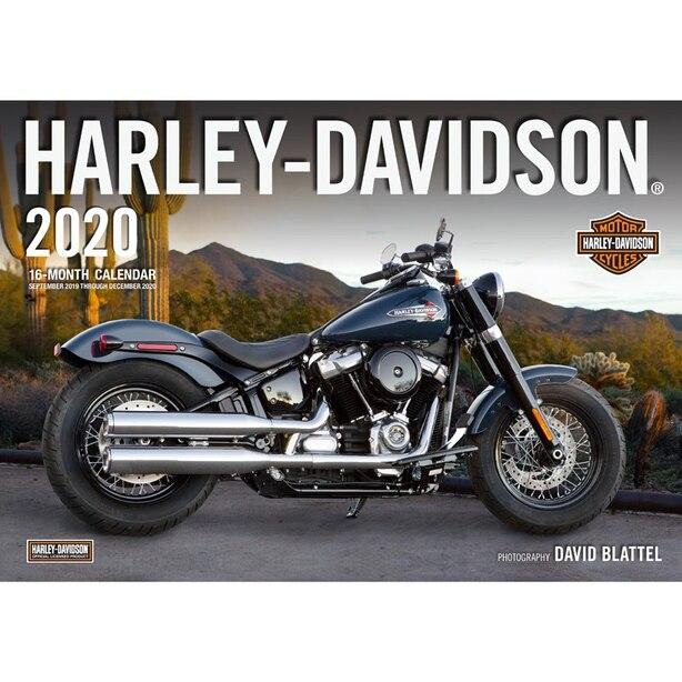 16-Month 2019-2020 Wall Calendar Harley Davidson