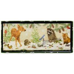WINTER FOREST FRIENDS PANORAMIC BOXED CARDS, SET OF 20
