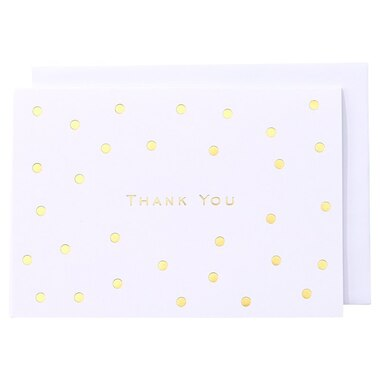 GOLD DOTS THANK YOU