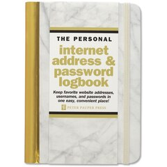 Internet Address & Password Journal - Marble