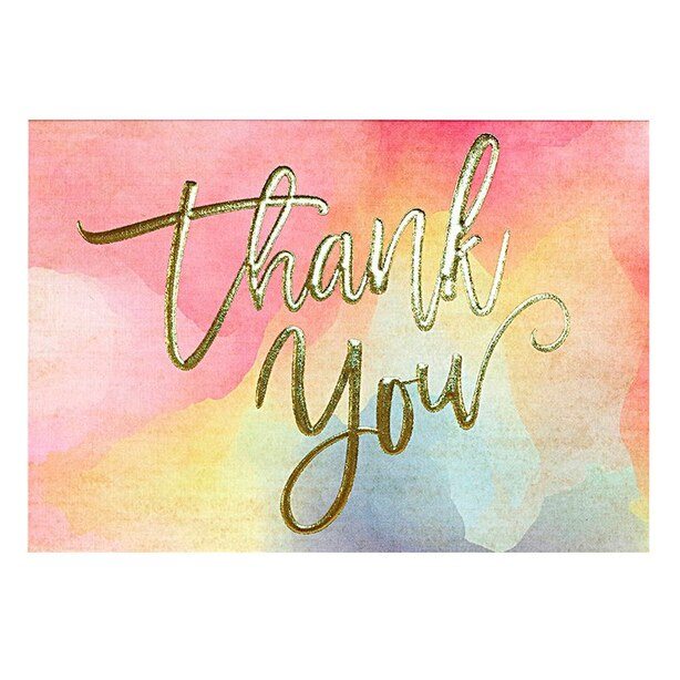 WATERCOLOR SUNSET THANK YOU NOTES Set of 14
