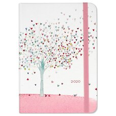 2020 16-Month Weekly Planner Tree of Hearts