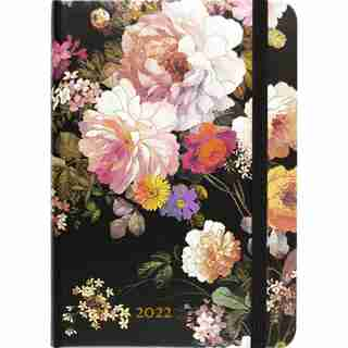 2022 16 Month Midnight Floral Engagement Calendar