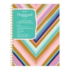 Posh Organized Living 17M Monthly/Weekly Planning Agenda