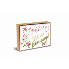 Sweet Floral Merci Thank You Note Cards, Set of 10