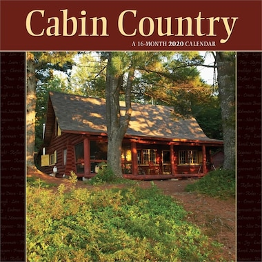 2020 12-Month Wall Calendar Cabin Country