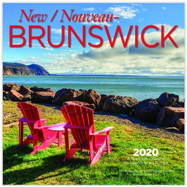 2020 12-Month Mini Wall Calendar New Brunswick