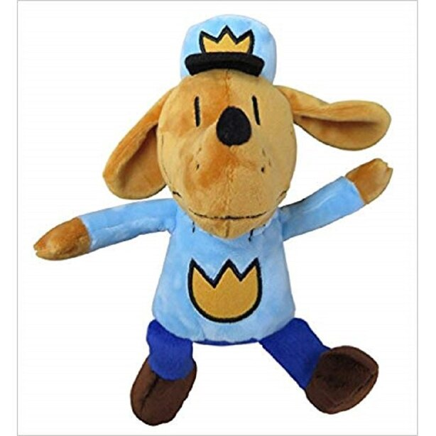 MerryMakers Plush Character Dog Man in Policeman Uniform