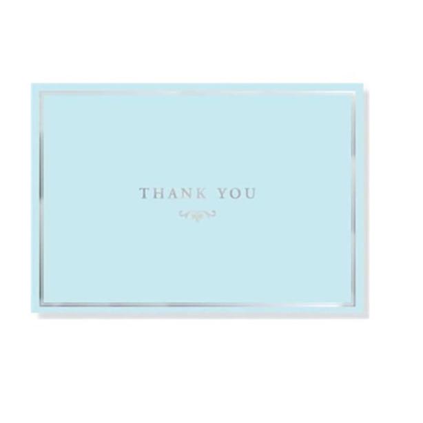 Blue Elegance Thank You Notes Set of 14