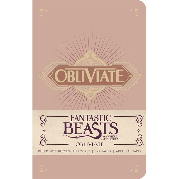 Insight Editions Fantastic Beasts Hard Cover Journal Obliviate