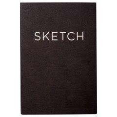 Open Bound Sketchbook Small Black
