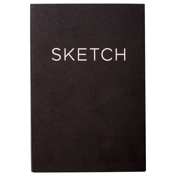 Open Bound Sketchbook Small Black