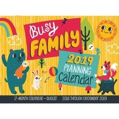2019 17-MONTH WALL CALENDAR BUSY FAMILY CALENDAR
