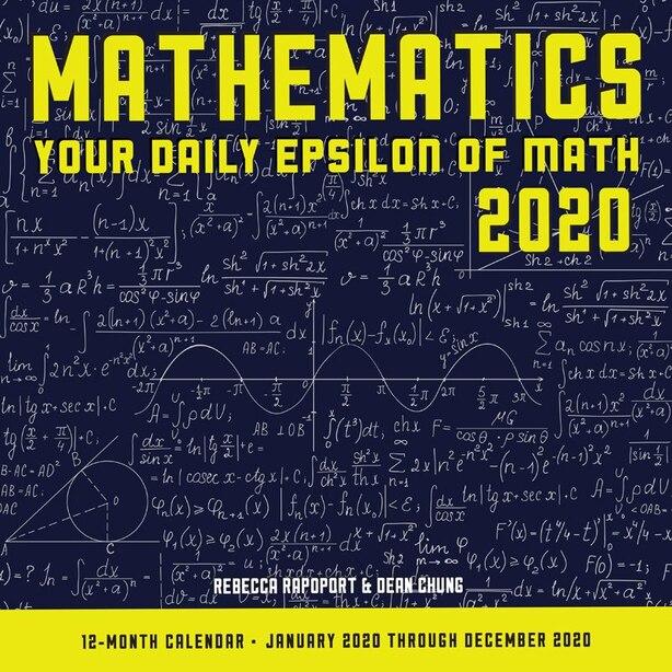 2020 12-Month Calendar Mathematics
