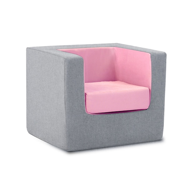 Monte Cubino Kid's Size Chair Nordic Grey/Pink