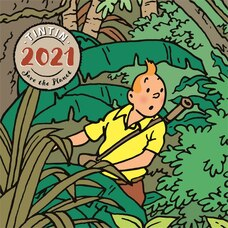 CALENDRIER MURAL 2021 TINTIN (MULTILINGUE)