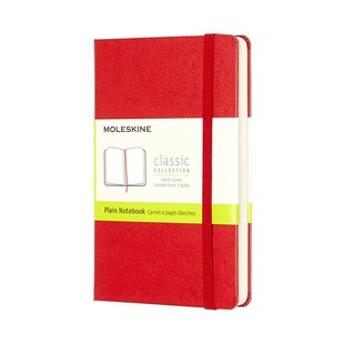 Moleskine Plain Red Pocket Notebook