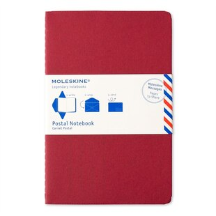 Postal Notebook - Red