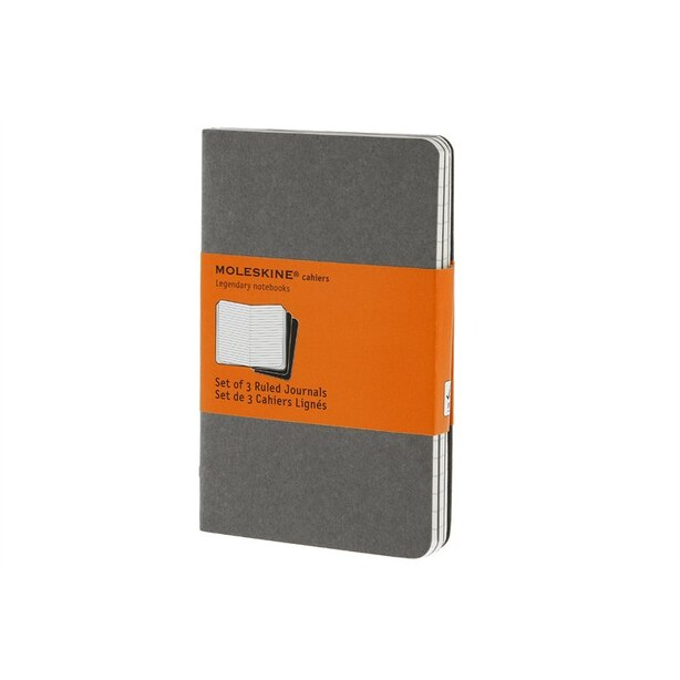 Moleskine Cahier Ruled Pocket Notebook Light Grey