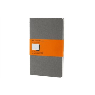 Moleskine® Cahier Ruled Large Notebook - Light Grey