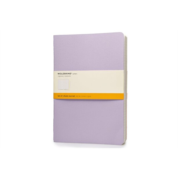 Moleskine Cahier Ruled Extra Large Journal Pastel Set of 3