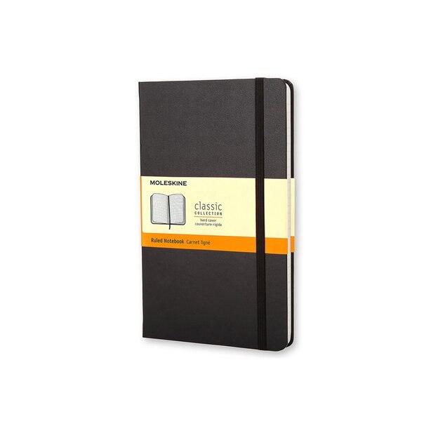 Moleskine Carnet Classic Ligné Format Large Couverture Rigide Noir