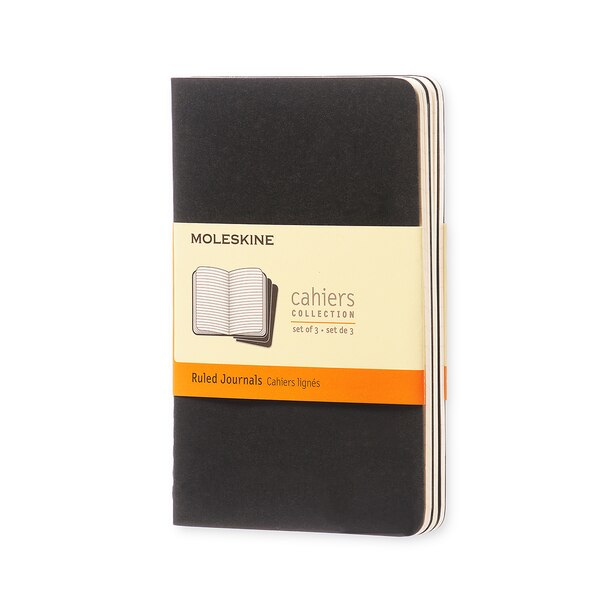 Moleskine Pocket Black Cahier Ruled